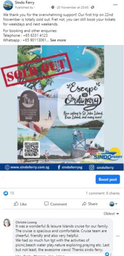 Sindo Ferry FB Reviews