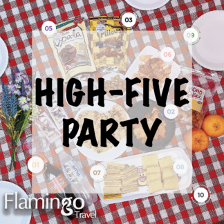 Flamingo - Picnic Set for High Five Party